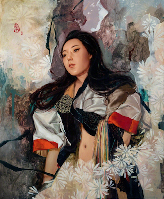 Narisa with Flowers (2015), Soey Milk