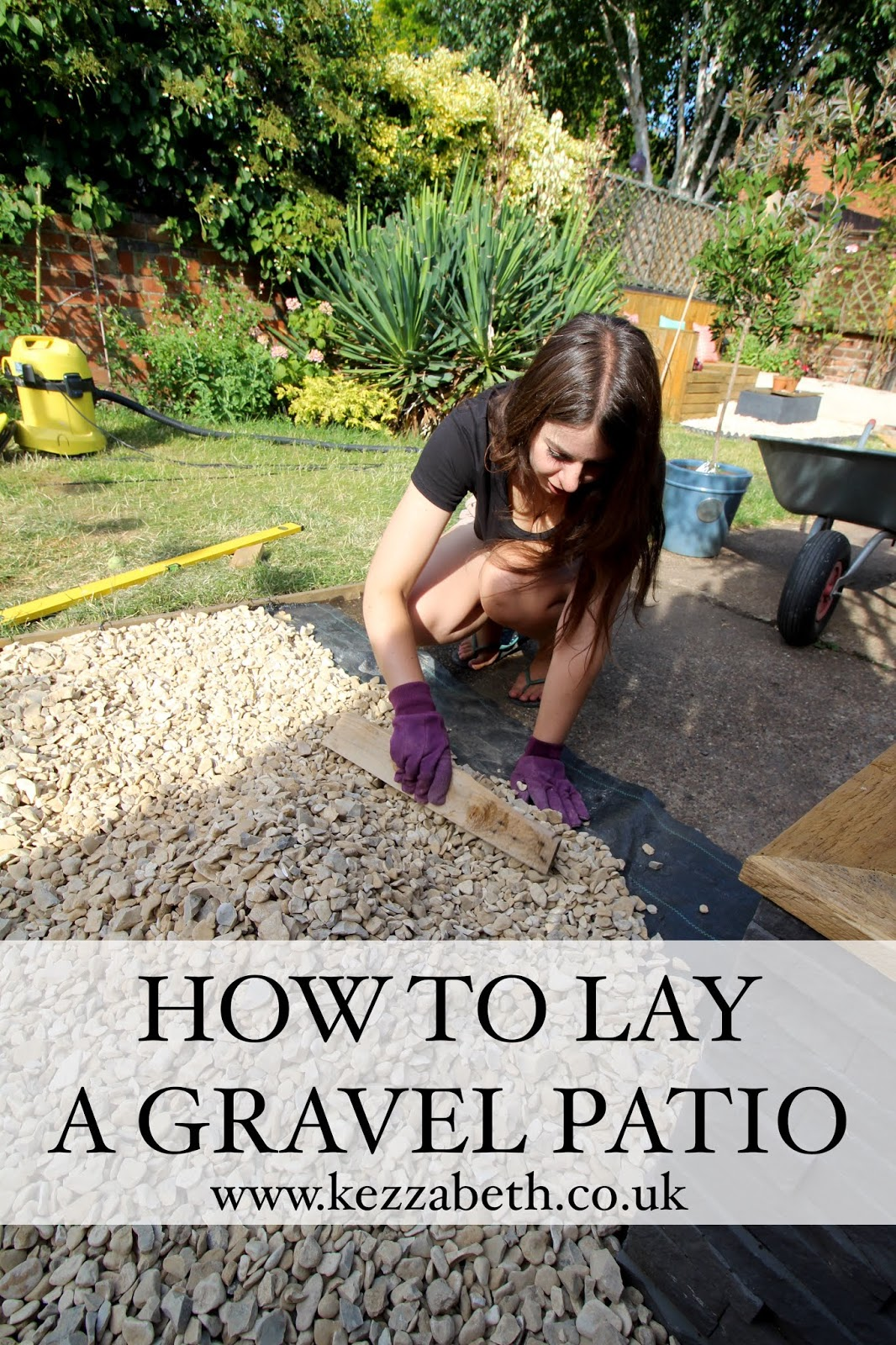 How to Lay a Gravel Patio DIY