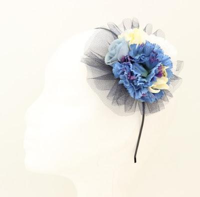 PV 2017 - Coleccion Azul Marino 03 Tocado tul flor