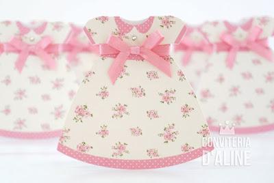 convite boneca pano floral provençal