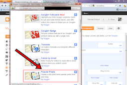 Cara Menambah Widget Popular Post di Sidebar Blogspot
