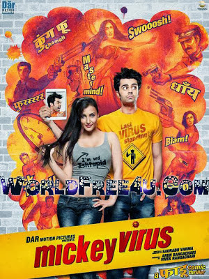 Poster Of Bollywood Movie Mickey Virus (2013) 300MB Compressed Small Size Pc Movie Free Download worldfree4u.com