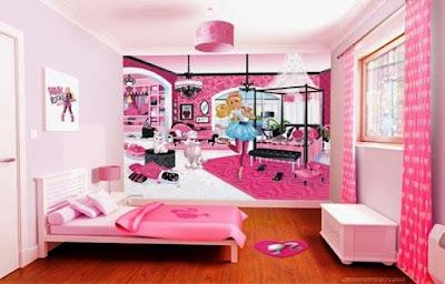 Dekorasi Kamar Tidur Anak Perempuan Tema Barbie