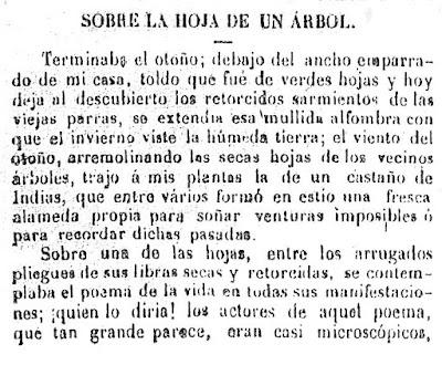 Fragmento del texto publicado en El Comercio