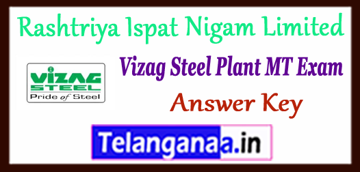 Visakhapatnam Steel Plant MT Tech F A Answer Key 2017 Expected Cutoff