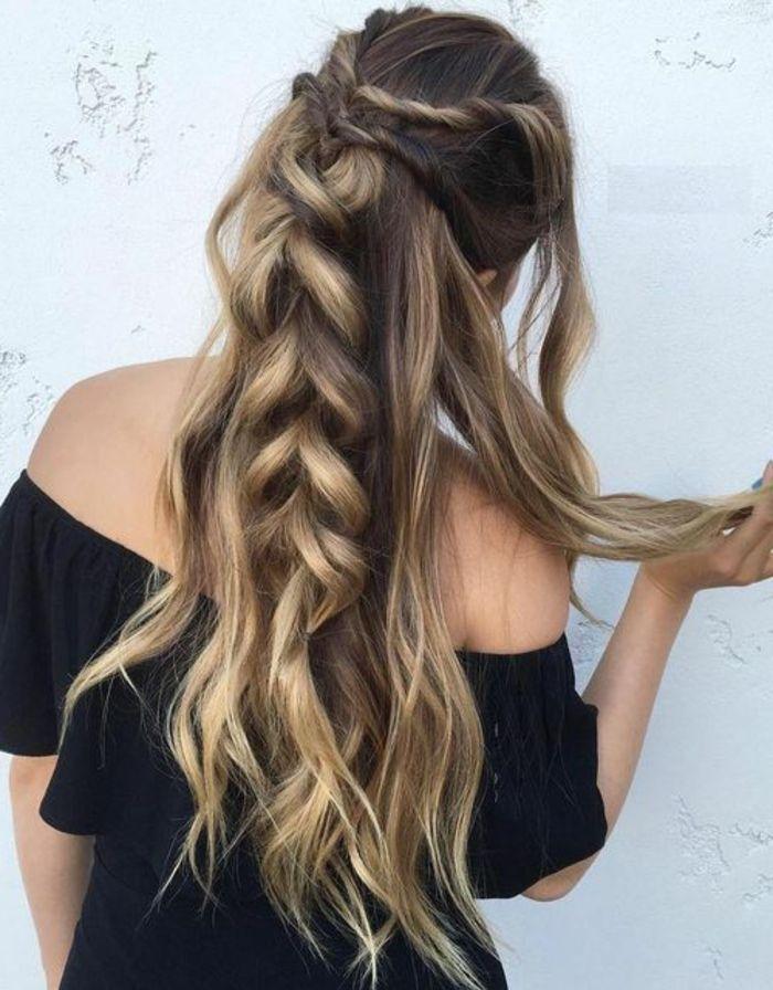 Festliche Frisuren Lange Glatte Haare Mittellange Haare