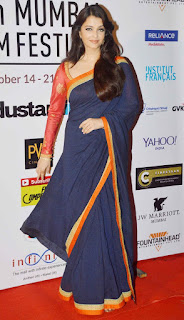 Aishwarya Rai In Blue Saree 1