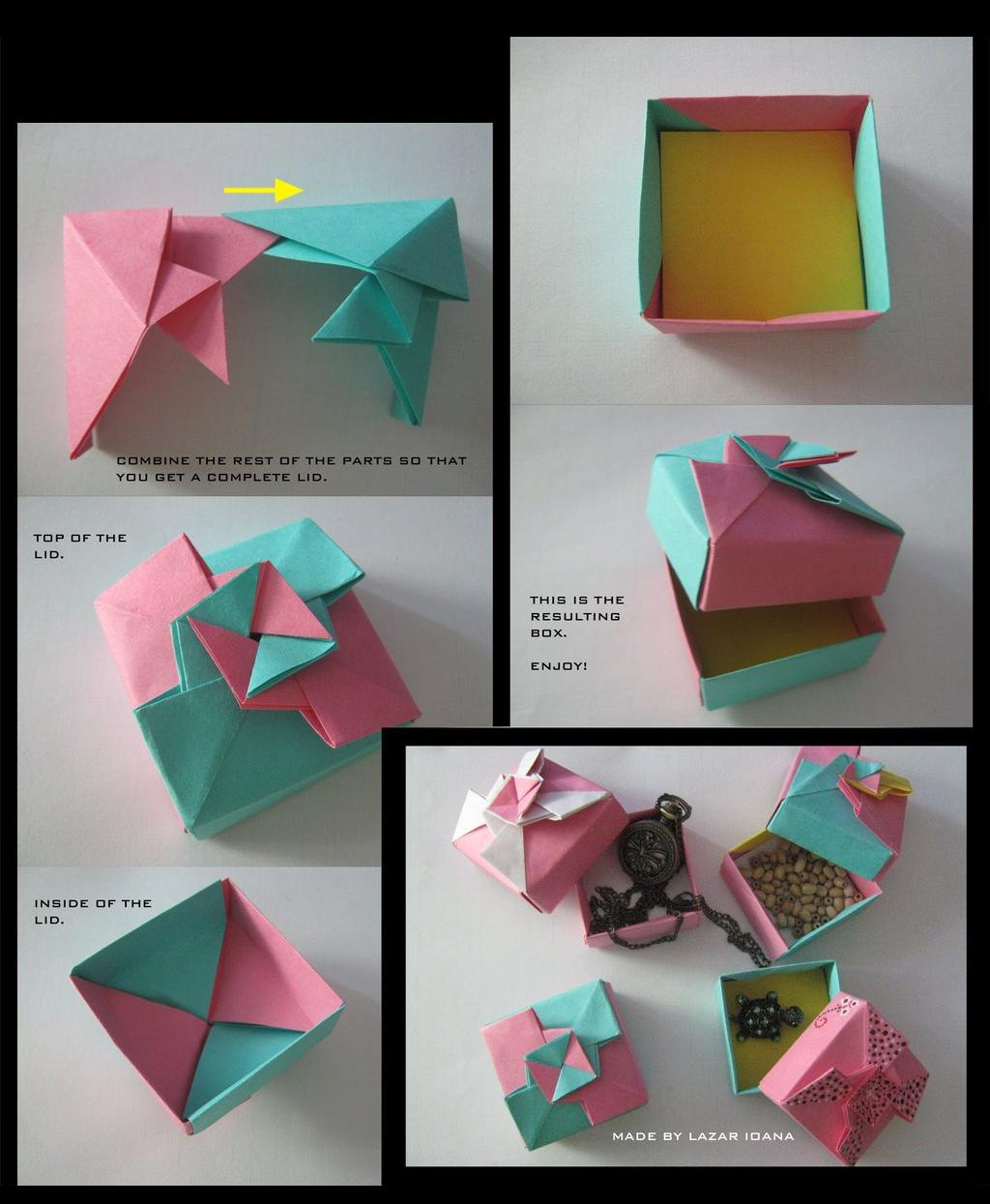 PaperCraft: Tutorial Origami Gift Box - photo#43