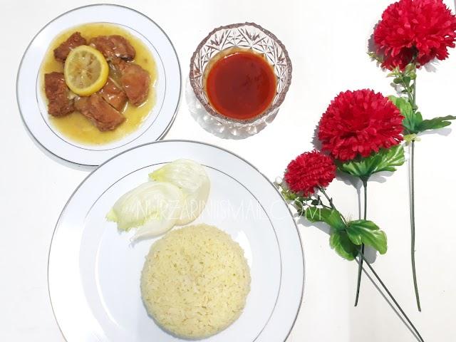 Resepi Nasi Ayam Lemon Ala Pakli Kopitiam