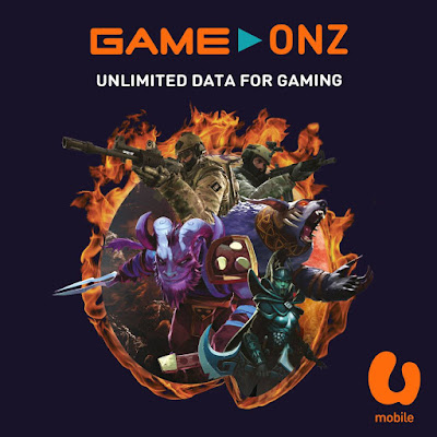 U Mobile Malaysia Unlimited Data for Gaming GameOnz