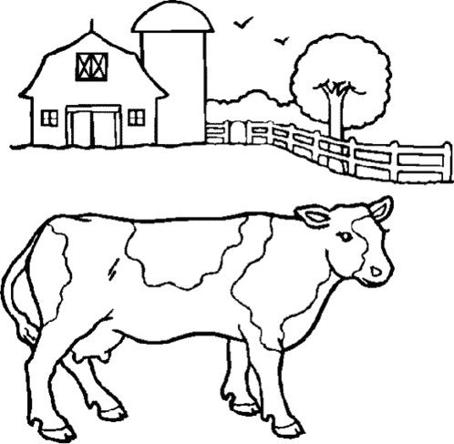barnyard cartoon coloring pages | Cartoon Farm Animal Coloring Pages For Kids >> Disney ...