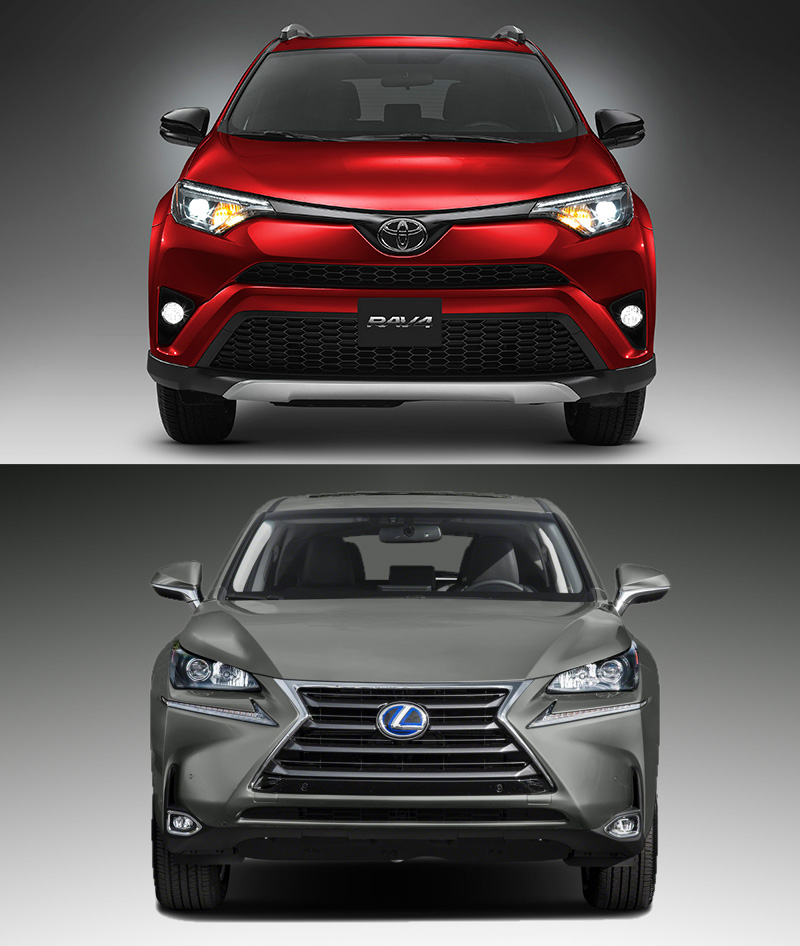 comparativa toyota rav4 hybrid executive awd vs lexus nx300h executive tecno f sport luxury. Black Bedroom Furniture Sets. Home Design Ideas
