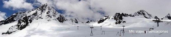 Estación de esquí, Stubaier-Gletscher, Pico Eisgrat, Tirol, Austria