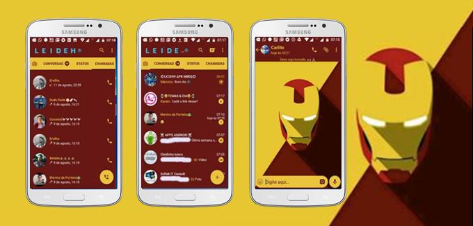 Baixar Tema GBWhatsapp - Iron Man