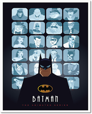 "Batman The Animated Series ""Eyes on Gotham"" Print by Jerrod Maruyama x Bottleneck Gallery"