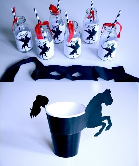 El Zorro Birthday Party: Free Printable Mini Kit.