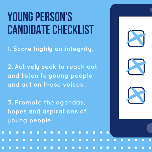 Young person's candidate checklist