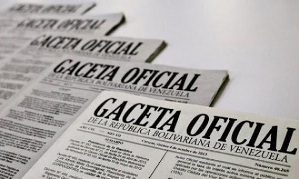 Léase SUMARIO Gaceta Oficial N° 41.621 de fecha 26 de abril de 2019