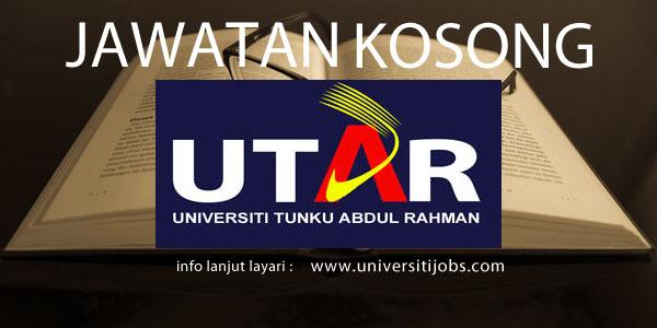 Jawatan Kosong Universiti Tunku Abdul Rahman 2016-Penang, Johor and Perak Main Campus