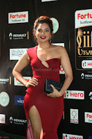 Natasha Nebasha in a Leg Slit Sleeveless Stunning Red Gown at IIFA Utsavam Awards 2017 081.JPG