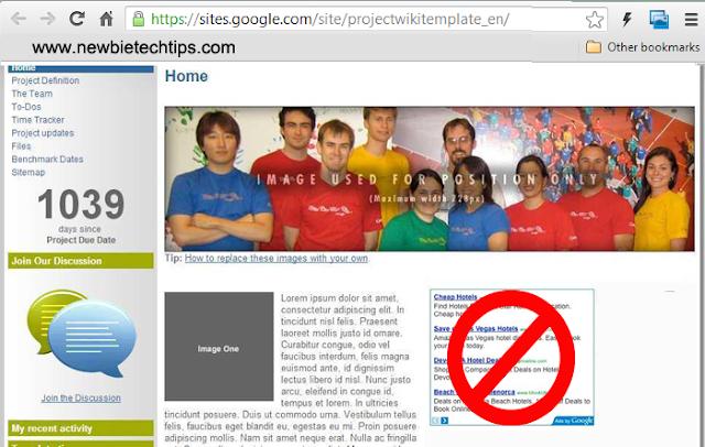 Google ends adsense on Google Sites