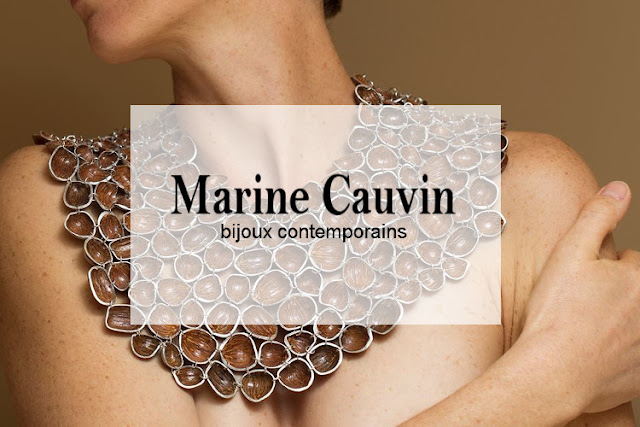 Marine Cauvin : plastron « Noisettes », photo © Christine Réfalo, journal des expositions de la Galerie de la Marraine