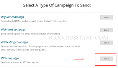 start rss campaign in mailchimp for alternate to rss feedburner