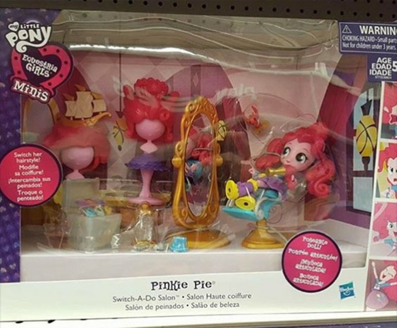 eqg minis pinkie pie salon spotted at toys r us canada mlp merch. Black Bedroom Furniture Sets. Home Design Ideas