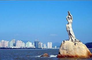 Fishing Girls Statue zhuhai