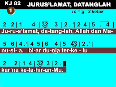 Lirik dan Not Kidung Jemaat 81 Jurus'lamat, Datanglah