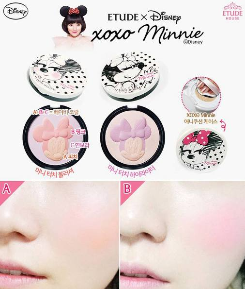 Etude House xoxo Minnie highlighter and blush