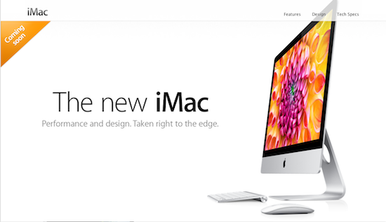 Apple Launching New iMac November 2012