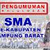 Pengumuman Kelulusan SMA se-Kabupaten Lampung Barat Tahun 2018