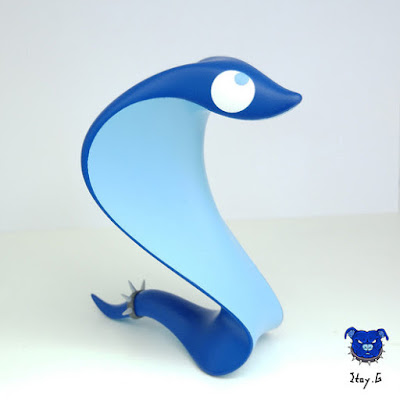 Tenacious Toys Exclusive Blue Edition Silly Snake Resin Figure by Itay.G