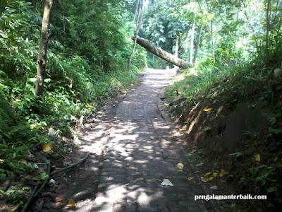 Tracking menuju Curug Omas di kawasan Wisata Dago Pakar