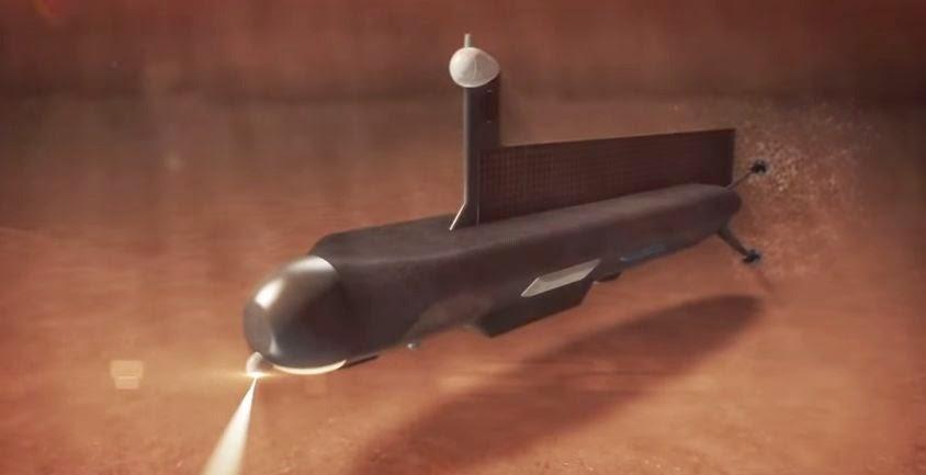 NASA's submarine concept for exploring Titan's seas. Credit: NASA