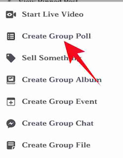 Facebook group me poll create kese kare 3
