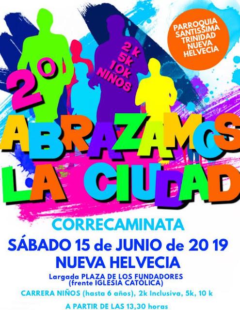 10k 5k 2k Abrazamos la ciudad en Nueva Helvecia (Colonia, 15/jun/2019)