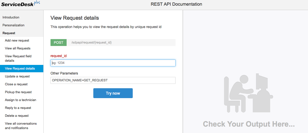 Are you api about servicedesk plus part 1 for Rest api documentation template