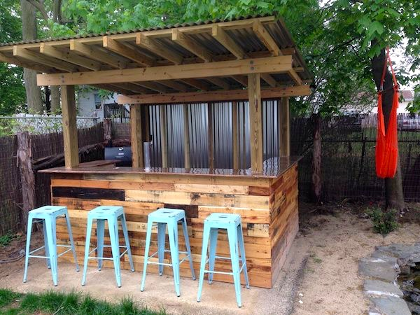 Two Men and a Little Farm: OUTDOOR BAR AREA, INSPIRATION ... on Backyard Bar With Roof id=13610