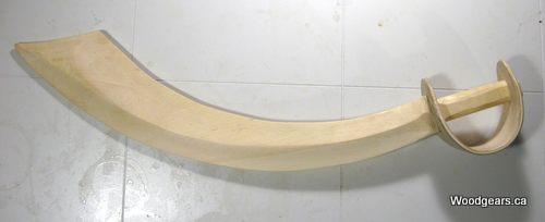 Espada pirata de madera. Wooden pirate sword
