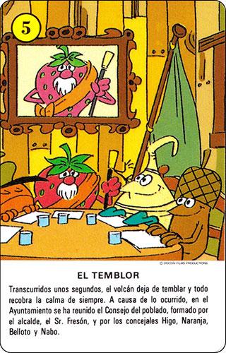 Baraja Los Fruittis Carta amarilla 5