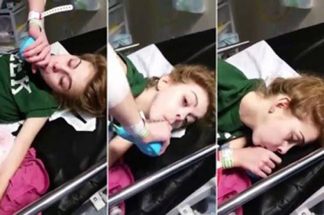 أم تصور ابنتها وهي تحتضر على سرير المستشفى ! مشهد قاسي ومؤلم جداا ..