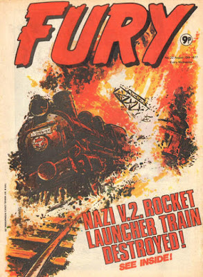 Marvel UK, Fury #22, train is destroyed in an explosion