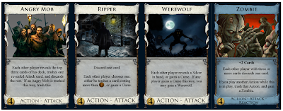 Four Attack Cards