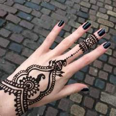 Back Hand Mehndi Designs In Jewellery Pattern
