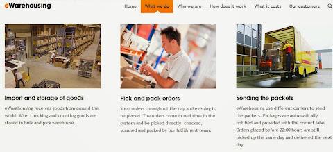 圖說:電商雲端倉庫 eWarehousing,圖片來源: 網站截圖