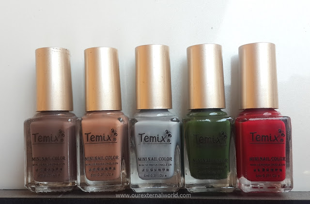 mini nail polish, review, swatches, bornprettystore