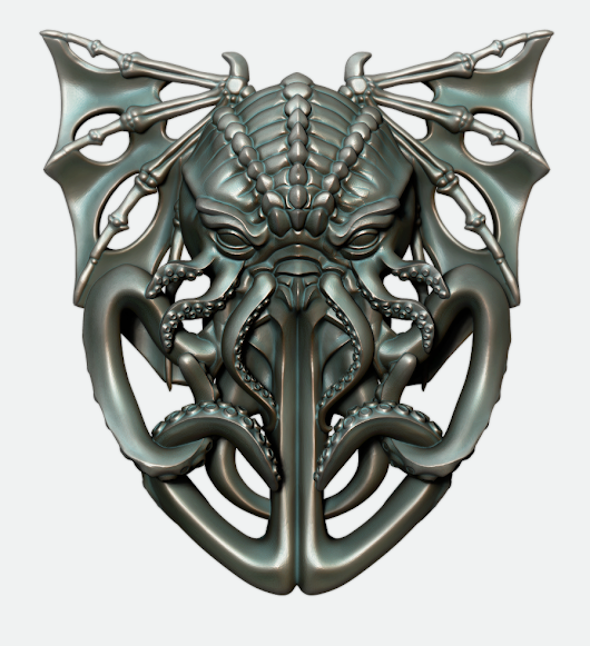 Pinshape competition entry :) Cthulhu pendant