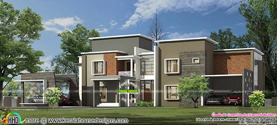 5 BHK, 558 square meter Modern home